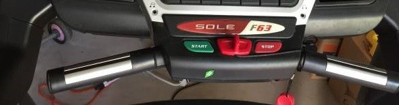 sole f63 treadmill start stop
